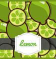 delicious lemon fresh fruit label pattern vector image vector image