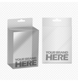 Digital silver transparent plastic blank vector image vector image