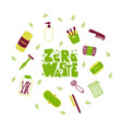 eco friendly lifestyle accessories flat vector image