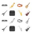 electric guitar loudspeaker saxophone violin vector image
