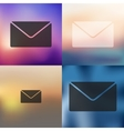 Envelope icon on blurred background