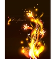fire flowers vector image