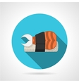 Flat color icon for sushi menu vector image