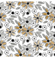 flowers vintage handdrawn sand colors seamless vector image vector image