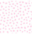 Gentle seamless pattern with pink hearts vector image vector image