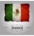 geometric polygonal Mexico flag vector image vector image