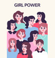 girl power poster feminism concept vector image