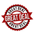 great deal label or sticker vector image vector image