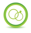 Green Marriage icon vector image