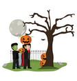 halloween and kids vector image vector image