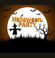 halloween party background orange vector image vector image