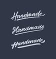 handmade roughen vintage hand lettering typography vector image vector image