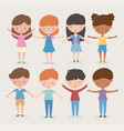 happy children day different girls and boys open vector image vector image