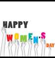 happy womens day banner design vector image vector image