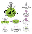 health and beauty care spa badge hand drawn vector image