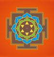 hinduism yantra sacred geometry mandala vector image vector image