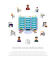hotel service staff facilities advertising banner vector image