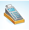 icon cash register vector image