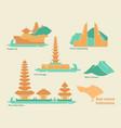 indonesia bali flat landmarks vector image vector image