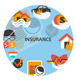 Insurance emblem vector image vector image