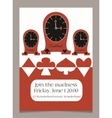 Invitation card Clocks from Wonderland vector image vector image