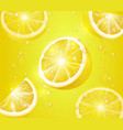 lemon realistic background lemonade with slices vector image vector image