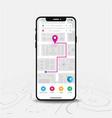 map gps navigation smartphone map application vector image