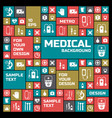 medical colored symbols background vector image vector image