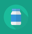 Medical Flat Icon Medicine bottle vector image vector image
