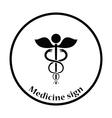 Medicine sign icon vector image vector image
