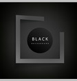 modern gray square frame black background i vector image