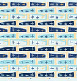 navy blue crosses abstract seamless pattern vector image