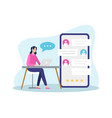 online customer support vector image vector image