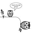 OWL DIET GOING vector image vector image