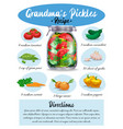 pickles recipe page vector image