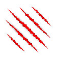 red scratch set claws scratching animal scrape vector image