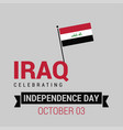republic of iraq independence day patriotic vector image