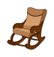 rocking chair in minimal style vector image