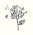 rose with glass shards vector image