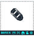 rowing boat icon flat vector image