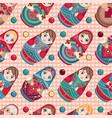 russian souvenir matryoshka - babushka doll vector image vector image