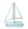 Sailing ship icon cartoon style vector image vector image