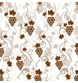 Seamless background pattern of grapes vector image vector image