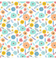 seamless pattern background with flowers vector image vector image