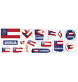 set flags american state vector image vector image