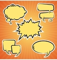 set of comic bubbles Template vector image vector image