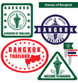 stamps of bangkok thailand vector image