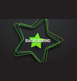 template of a black background with a green star vector image vector image