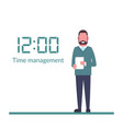 time management control isolated on background vector image