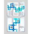 Tri-fold brochure design vector image vector image
